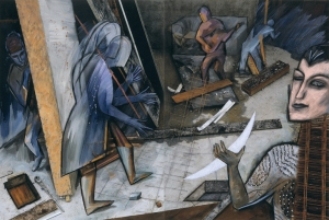 Eurydice's Dance - underground, at a construction site in Paris, Eurydice moves to Orpheus' guitar as Persephone considers his request