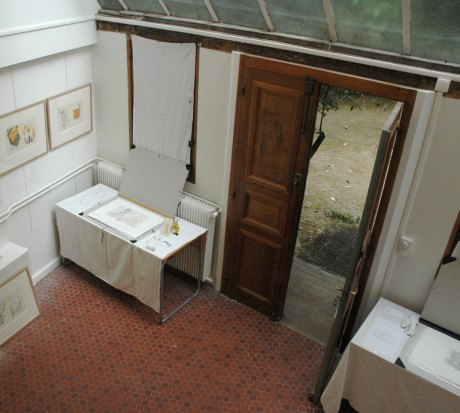 looking down from the loggia